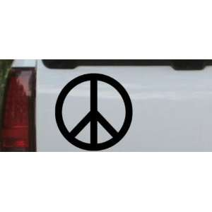 6in X 6in Black    Peace Sign Symbol Car Window Wall Laptop Decal