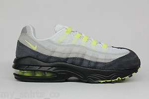 Nike Air Max 95 Cool Grey Neon Yellow Authentic Pre School Sneakers 1