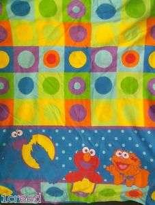 Sesame Street Elmo Zoe Cookie Monster Twin Size Flat Sheet Fabric