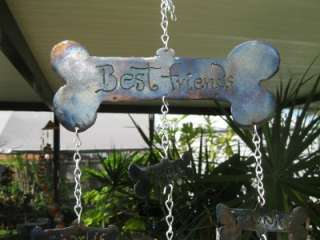 BEST FRIENDS PET WIND CHIME HANDCRAFTED FROM METAL