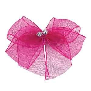 Aria Chiffon Party Bow Barrettes Pink Green Orange 3pk