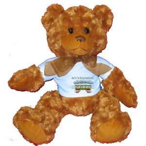 Day God Created PIZZA DELIVERERS Plush Teddy Bear with BLUE T Shirt
