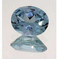 Lab Created Blue #106 Spinel 7x5mm Oval. Approx .85ct Looks a lot