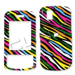 LG Shine 2 GD710 Colorful Black Zebra Skin Hard Case/Cover