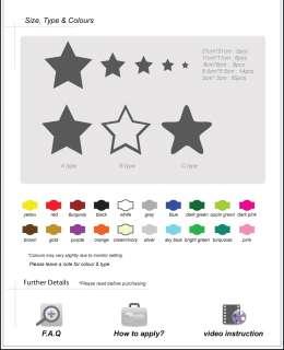 Car Bike Star Nursery Children Wall Sticker /Decal 95pc