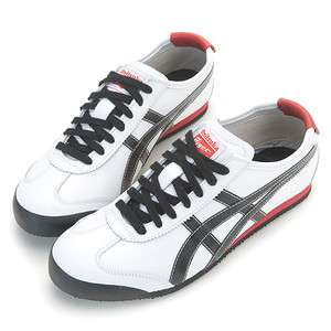 Asics Onitsuka Tiger Mexico 66 White / Black / Etched Red Shoes T54