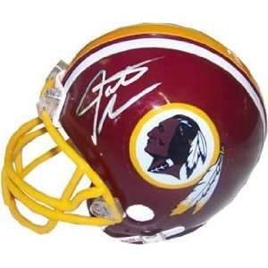 Santana Moss Autographed / Signed Mini Helmet