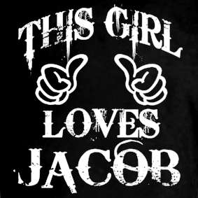 New This Girl Loves Jacob Moon Team Twiligt Tee T Shirt