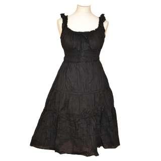 WOMEN LADIES COTTON EMPIRE LINE SLEEVELESS SUMMER BEACH DRESS SIZE 8