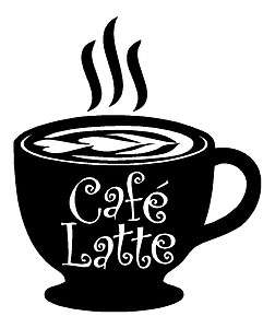 Cafe Latte coffee kitchen wall art vinyl decal decor removable