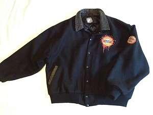 Vintage Black Wool Tour Jacket XL, Use Your Illusion 1991 1992 Tour