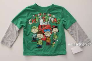 CHARLIE BROWN CHRISTMAS Long Sleeved Baby Infant Toddler Boys Tee T