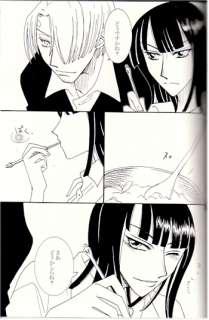 One Piece doujinshi Robin + x Sanji Luffy + Merry Diva Charcoal Gray