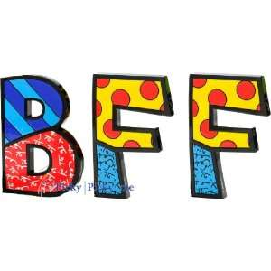 BFF Word Art for Table Top or Wall by Romero Britto