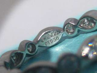 TIFFANY & CO. SWING WEDDING PLATINUM DIAMOND BAND RING SIZE 6.5
