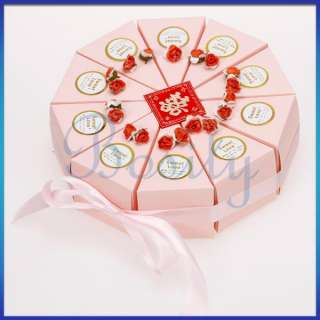 Slice Box Baby Shower Wedding Favor Box Centerpiece Sweet Love
