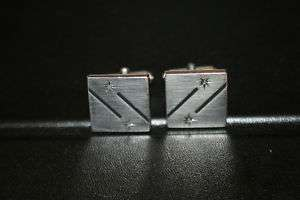 Vintage Mens Stainless Steel Swank Cuff Links
