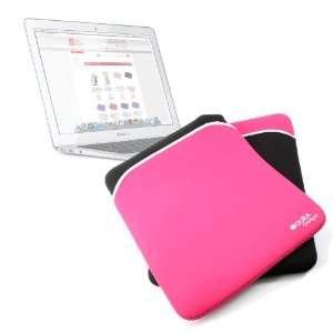 Reversible Pink / Black Water Resistant Neoprene Protective Laptop