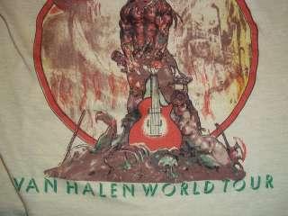 vintage VAN HALEN 1979 concert tour t shirt SMALL S wow