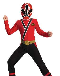 Boys Power Rangers Red Samurai Kids Halloween Costume L
