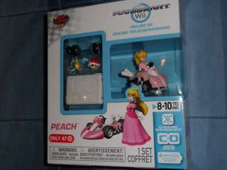 Nintendo Super Mario Kart Wii Princess Peach Micro RC Car Remote