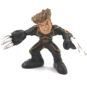 Lot 12 X Marvel Super Hero Squad X Men Spider Man Iron Man Figure D88
