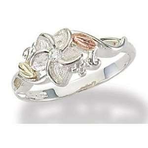 Black Hills Silver Plumeria Diamond Ring(.05 tw) Jewelry