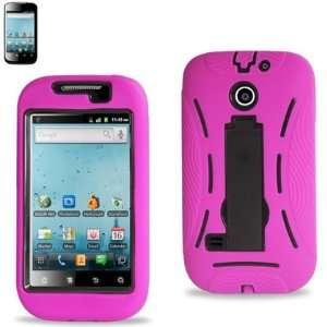 (Super Cover) Hard Case for Huawei Ascend II M865 Pink & Black
