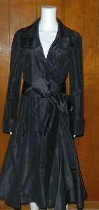 Womens Diane Von Furstenberg Black Silk Faux Wrap Dress Evening sz 12