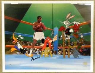 Muhammad Ali AUTO Bugs Bunny animation Signed cel JSA