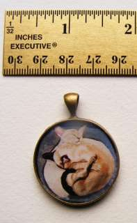 Cat Jewelry Art Necklace pendant christmas gift from handmade