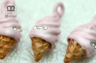 is the cute pink strawberry ice cream cone charm pendants wholesale