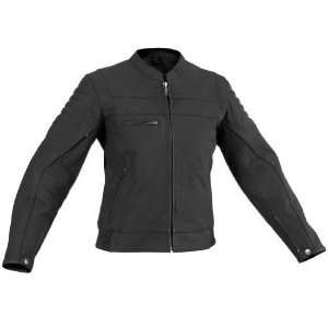 River Road Vise and Cameo Matte Black Leather Motorcycle Jacket (Mens