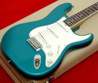 New USA Fender ® Eric Johnson, Stratocaster, Strat Aqua Firemist Blue