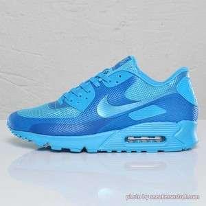 NIKE AIR MAX 90 HYPERFUSE PREMIUM BLUE GLOW NEON MESH HYP PRM RUNNING