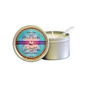 Round Massage Candle Wild Surf: Health & Personal Care