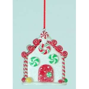 Gingerbread Kisses Decadent Peppermint Candy House Christmas Ornament