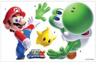 Super Mario Bros Giant Peel And Stick Wall Decal Mario & Yoshi *New