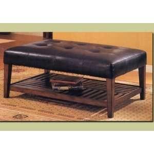 Ottoman Bench Seat Storage Wood Frame