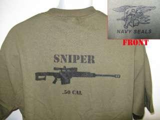 NAVY SEAL T SHIRT/ .50 CAL SNIPER T SHIRT