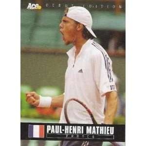 Paul Henri Mathieu Tennis Card: Sports & Outdoors