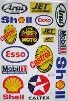 shell caltex esso castrol jet mobil 1 one sticker decal