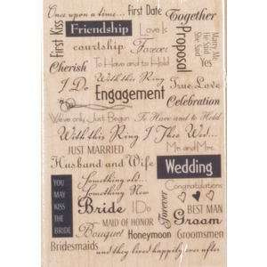 Stampede Rubber Stamp   Wedding Background Arts, Crafts & Sewing