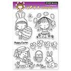 PENNY BLACK RUBBER STAMPS CLEAR SPRING DAY MIMI EASTER STAMP SET