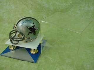 Autographed NFL Football Sport Mini Helmet Tony Dorsett Riddell Dallas