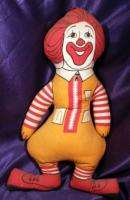 Vintage RONALD McDONALD Stuffed Doll 17