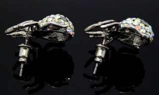 cute Spider Jewelry Swarovski Crystal earrings F203#