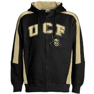 UCF Knights Black Spiral Full Zip Hoody Sweatshirt Sports