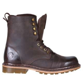 Dr Martens Mens Boots Pier Dark Brown Wyoming Leather 13337201