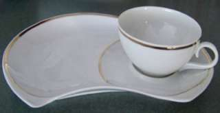 Schmidt Porcelain Coffee Tea Cup Snack Plate Set Brazil